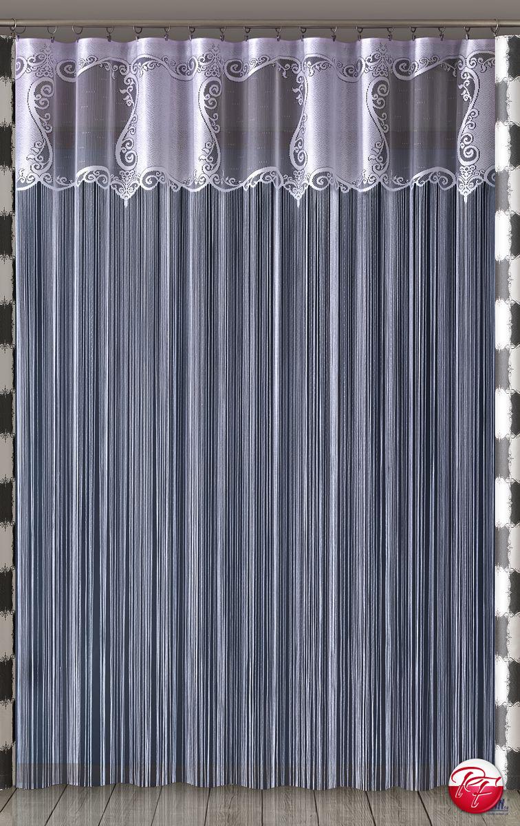 Firanka Makarony Szachownica 220x250 Cm