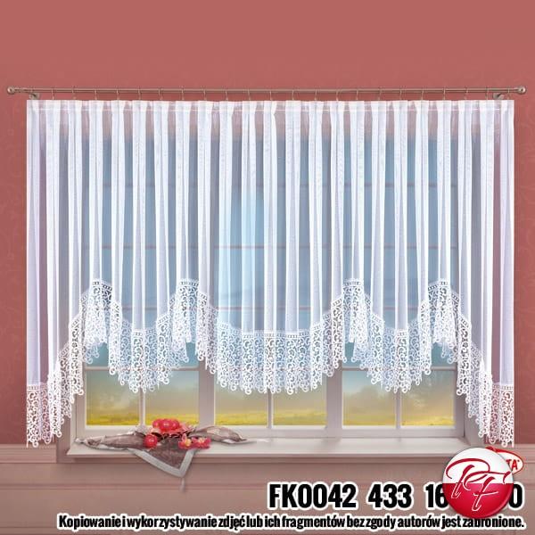 Firanka Fk0042 Wymiar 160x650 Kolor Biały